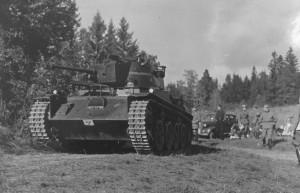 The first Swedish L-60, stridsvagn m/38.