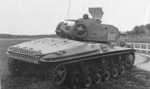 Stridsvagn m/42 from behind
