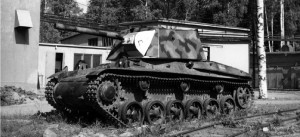 Stridsvagn m/42 with experimental turret